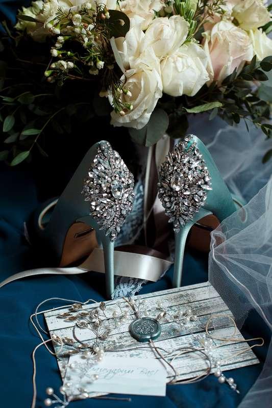 """свадебные туфли цвета морской волны - фото 17286254 Студия свадеб """"Трюфель"""""""