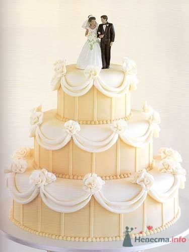 Фото 53837 в коллекции свадебные торты