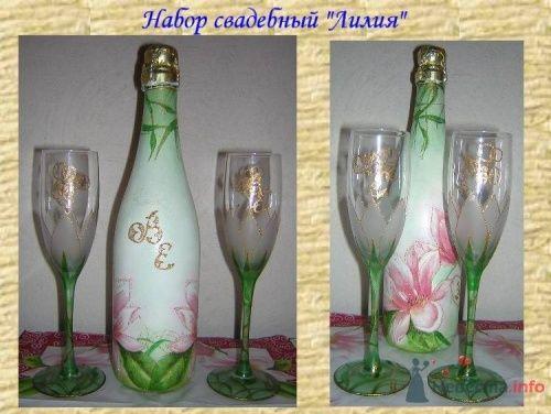 """Фото 2265 в коллекции Свадебное шампанское - """"Свадебные бокалы"""" - аксессуары ручной работы"""