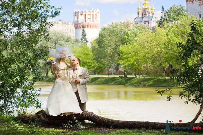 Невеста с фатой около пруда - фото 119662 Фотограф Владимир Будков