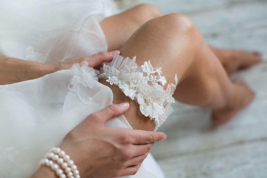 Подвязка 890 р. Цвет айвори. - фото 17178696 Svetochek wedding - мастерская аксессуаров