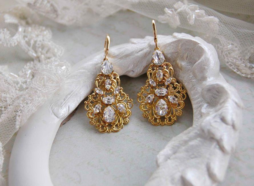 Серьги из кристаллов swarovski - фото 17200744 Мария Евсеенко - ювелирные украшения