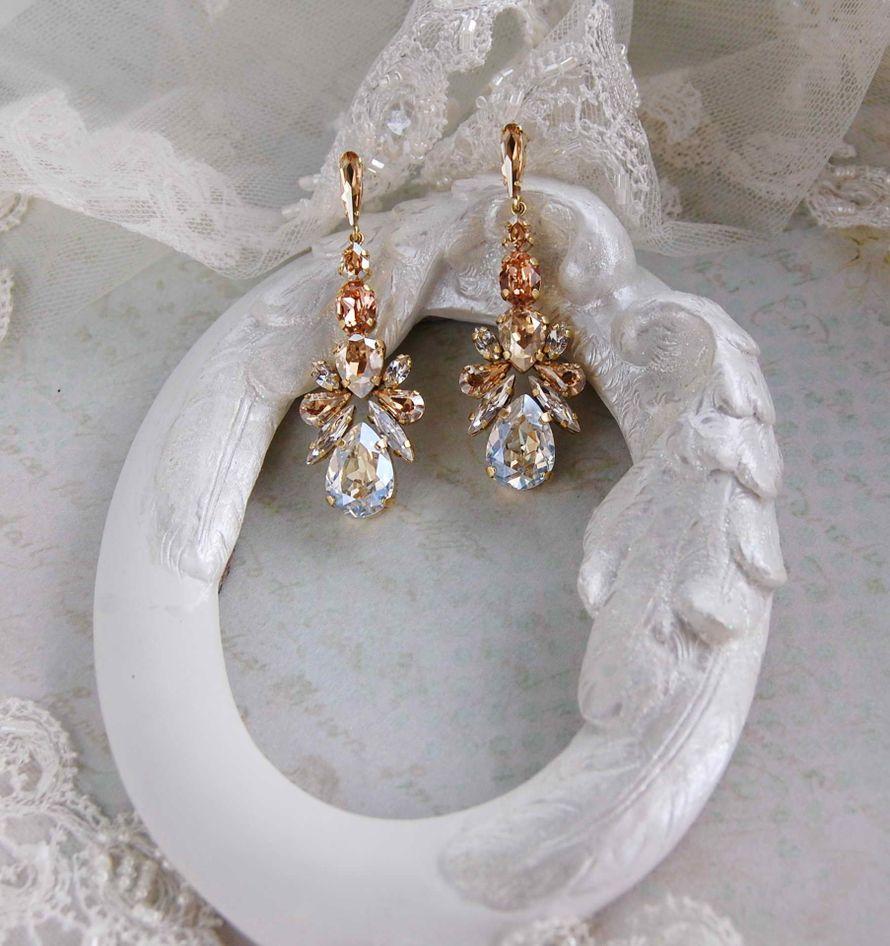 Серьги из кристаллов swarovski - фото 17200752 Мария Евсеенко - ювелирные украшения