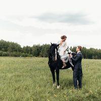 Свадебная фотосессия с лошадью в Петрухино-Клуб