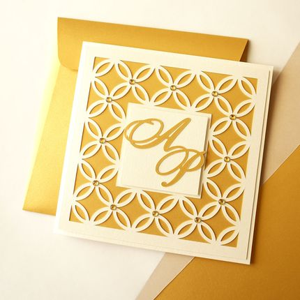 """Приглашение на свадьбу """"Gold"""""""