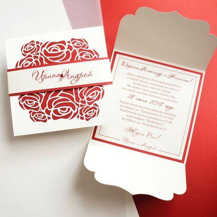 """Приглашение на свадьбу """"Red rose"""""""