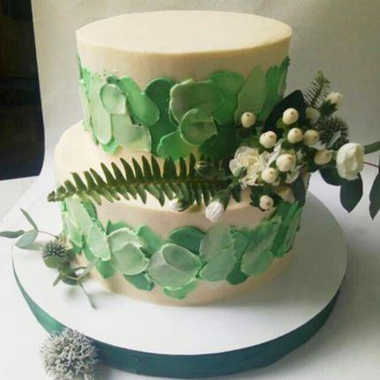 Торт в тропическом стиле