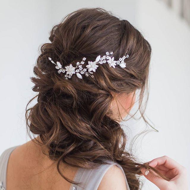 Нежная веточка для свадебной прически невесты 1200 руб. - фото 17548958 Екатерина Захарова - украшения для волос