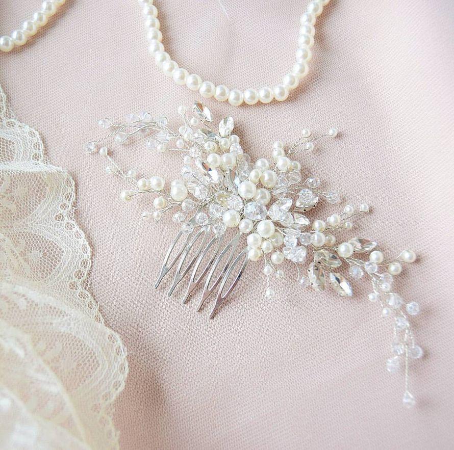 Свадебный гребень для невесты в прическу 1450 руб. - фото 17549088 Екатерина Захарова - украшения для волос