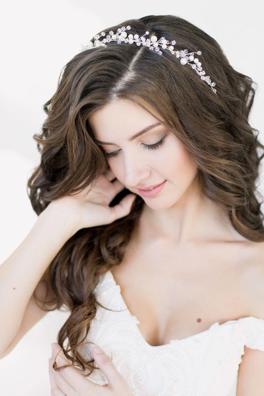 Свадеюный веночек. Стоимость 1000 руб. - фото 17549106 Екатерина Захарова - украшения для волос