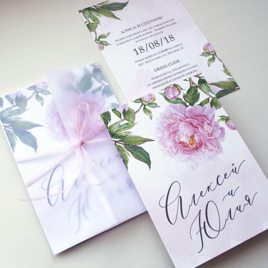 Полиграфия приглашения на свадьбу