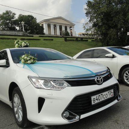 Аренда украшений на свадебные авто в бирюзовом (мятном)