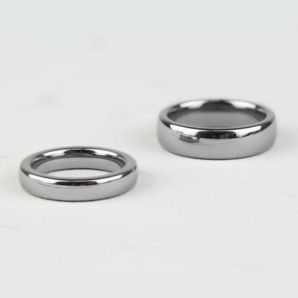 Классическое обручальное кольцо из вольфрама (R-TG-144)