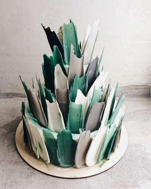 """Свадебный торт №12 - фото 17614844 Кондитерская """"Сластёнка"""""""