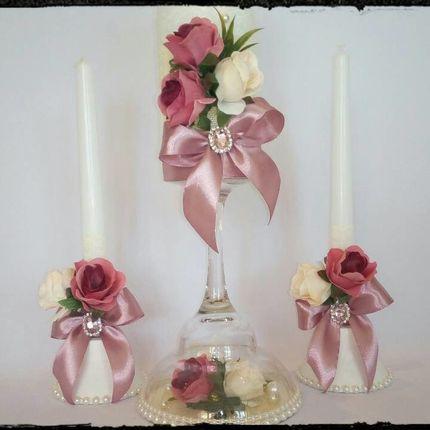 Свадебные свечи - домашний очаг.