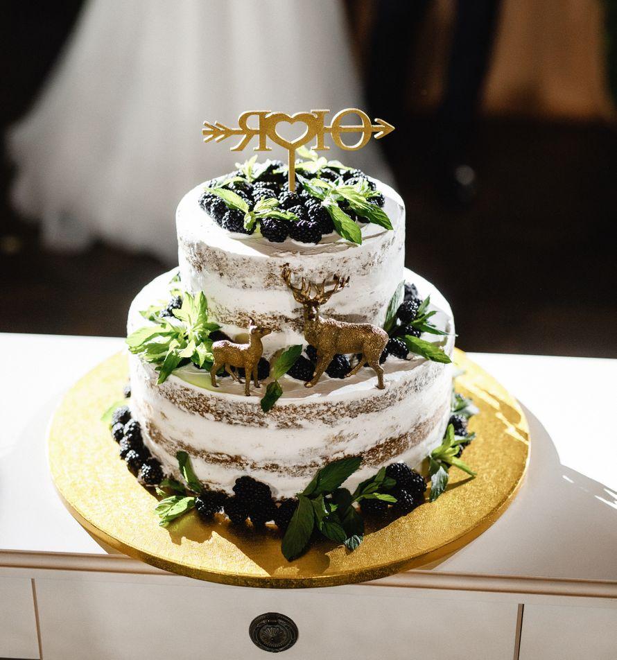 """""""Голый"""" торт с лёгким тематическим декором - фото 17640918 Кондитерская Cake&Cake"""