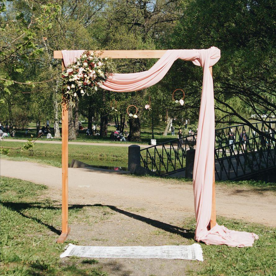 Оформление арки в стиле рустик
