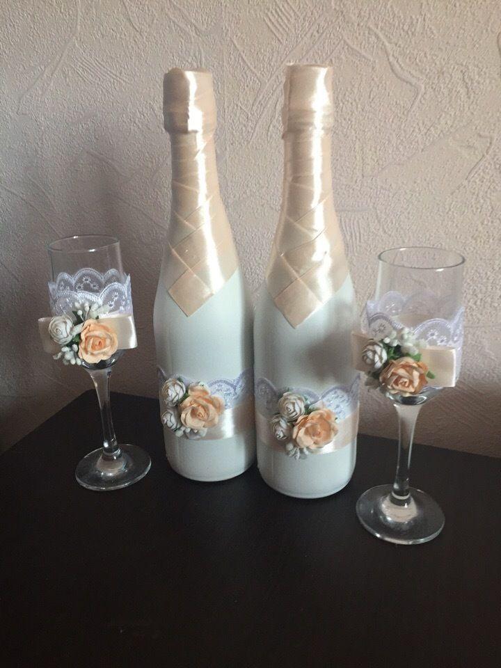 Нежный персиковый набор с цветочной композицией - фото 17764604 Свадебные наборы аксессуаров Крыкиной Юлии