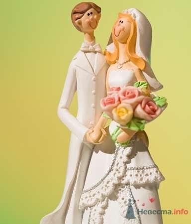 Мультяшная пара с букетом - фото 53551 RosyDog – свадебные аксессуары из Америки и Европы