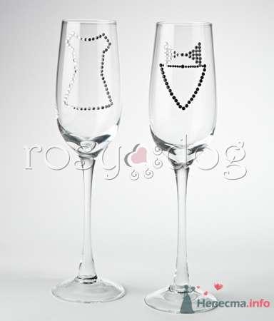 """Свадебные бокалы для шампанского """"Джентельмен и невеста"""" - фото 79158 RosyDog – свадебные аксессуары из Америки и Европы"""