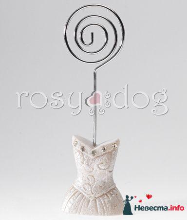Держатель для рассадочных карточек Невеста - фото 87608 RosyDog – свадебные аксессуары из Америки и Европы