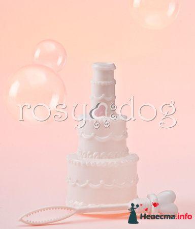 Мыльные пузыри для свадьбы Свадебный торт - фото 87614 RosyDog – свадебные аксессуары из Америки и Европы