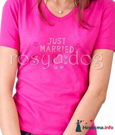 Футболка для медового месяца Just Married - фото 89987 RosyDog – свадебные аксессуары из Америки и Европы