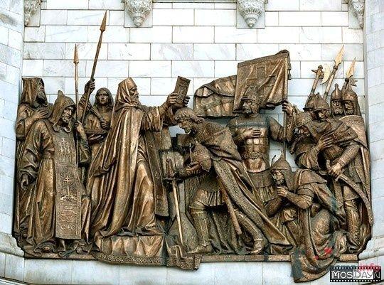 Преподобный Сергий благословляет Дмитрия Донского на Куликовскую битву - фото 71185 Incognito