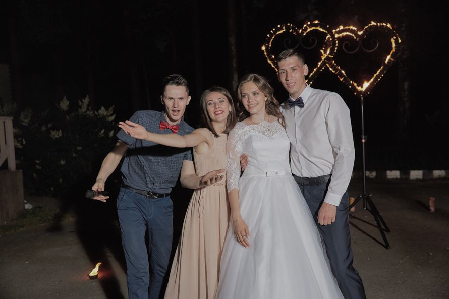 Проведение свадьбы, диджей и огненные сердца, 6 часов
