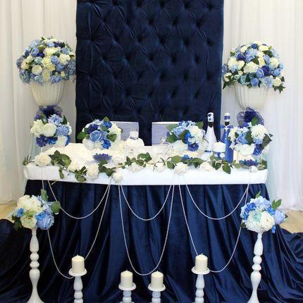 """Оформление зала """"Шикарный синий бархат"""""""