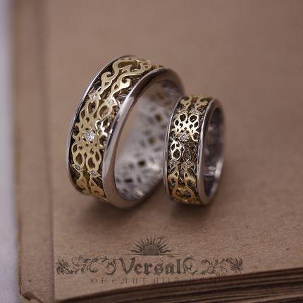 Парные обручальные кольца, артикул VGOK0099