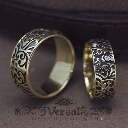 Черные обручальные кольца, артикул VGOK0135