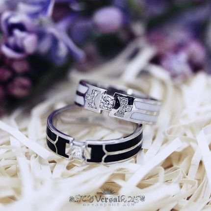 Парные обручальные кольца, артикул VGOK0143
