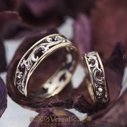 Парные обручальные кольца, артикул VGOK0163