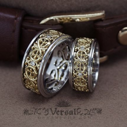 Парные обручальные кольца, артикул VGOK0164