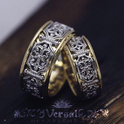 Парные обручальные кольца, артикул VGOK0178