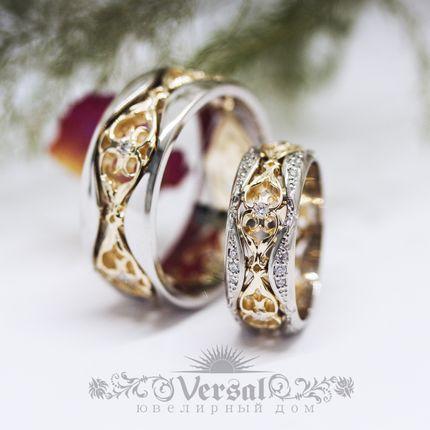 Парные обручальные кольца, артикул VGOK0212