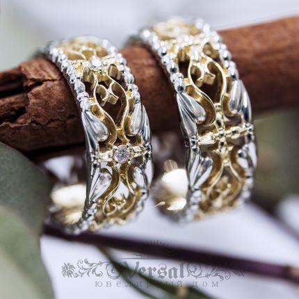 Парные обручальные кольца, артикул VGOK0176