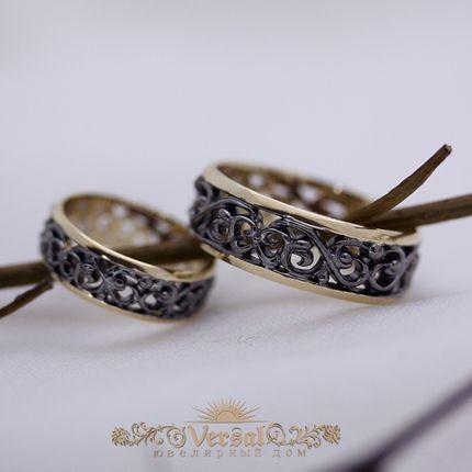 Парные обручальные кольца - для нее без бриллианта