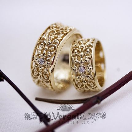 Парные обручальные кольца 585 пробы