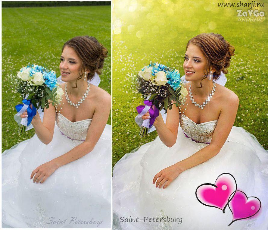 Быстрая обработка свадебных фотографий невесты