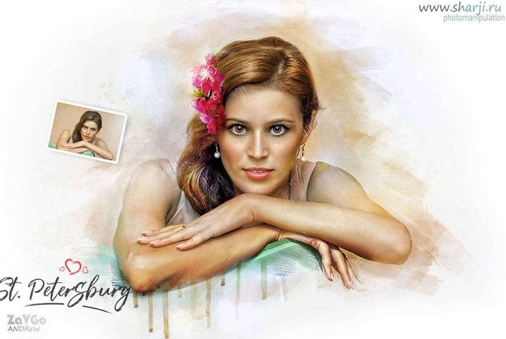 Арт портрет девушка - фото 19879007 Alpha Studio - карикатурная обработка фото