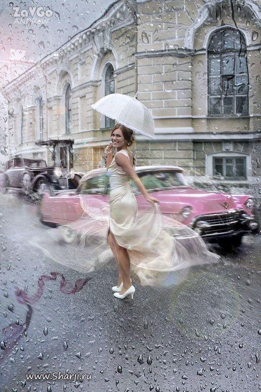 """""""Все капли Дождя мои"""" уличная фотосессия Санкт-Петербург - фото 19879011 Alpha Studio - карикатурная обработка фото"""