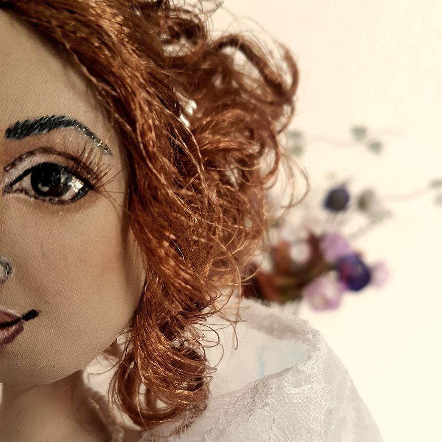 Авторская текстильная кукла-невеста Лиза
