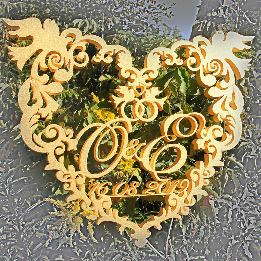 Вензель из пенопласта - фото 18996630 ИП Сидельцева - декор из пенопласта