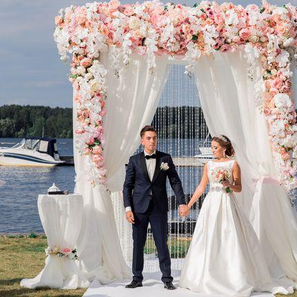 Оформление арки для церемонии