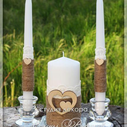Свечи в стиле Рустик