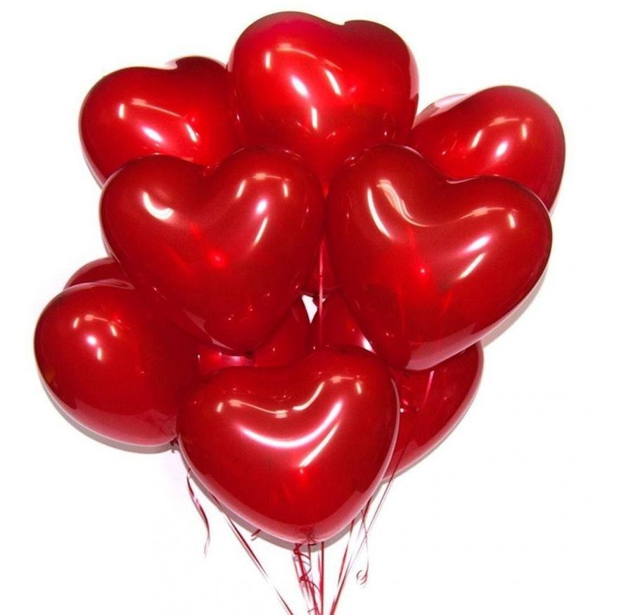 Латексные шары сердца 16, 1 шт.