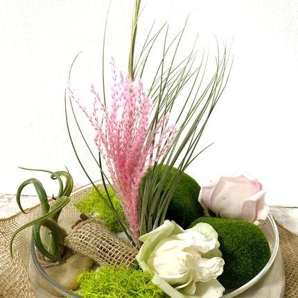 Композиции в стекле с живыми растениями