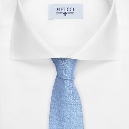 Светло-голубой галстук с микродизайном